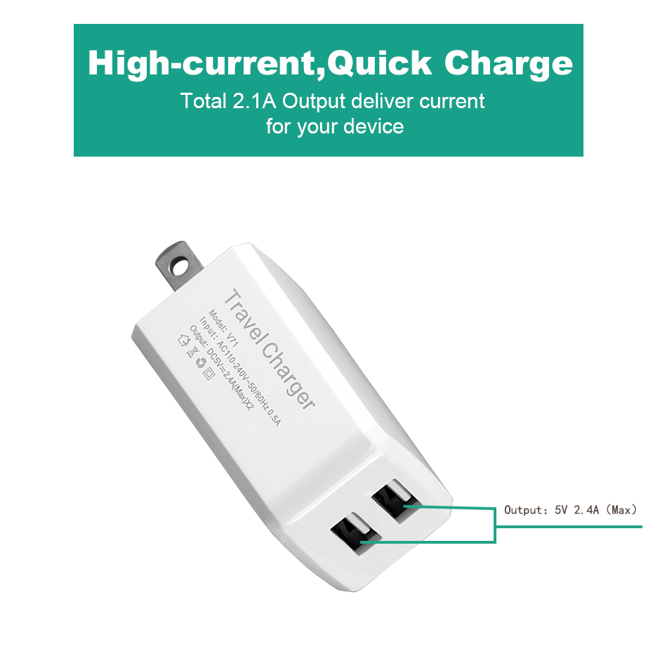 2.1A fast charger