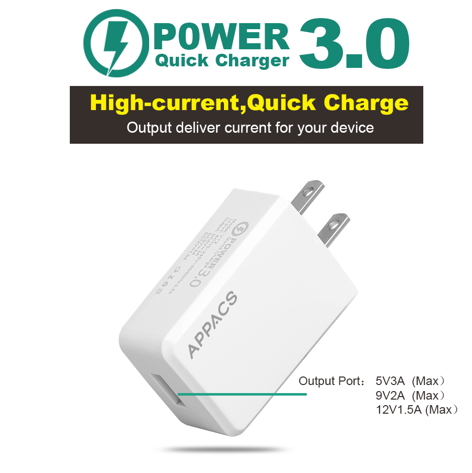3A quick wall charger
