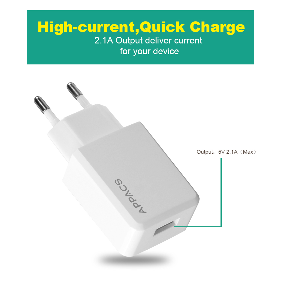 2.1A wall charger