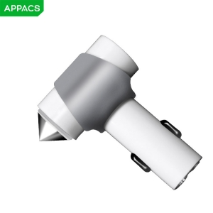 APPACS AB01008 Aluminum Alloy 5v 3.4a Safety Hammer Dual Usb Car Charger