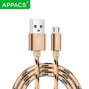 APPACS AB03155 Factory Price Color Nylon Braided Micro-Usb Cable