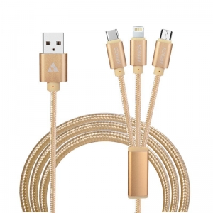 APPACS Newest 3 In 1 Braided USB Cable