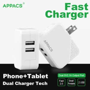 APPACS AB02034 foldable wall charger adapter