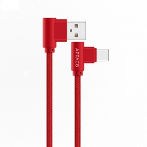 TPE braided right angle TYPE-C 2.4A usb charging cable