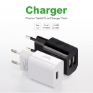 China APPACS A1 2 USB Charger EU Plug Adapter Universal 5V/2.4A Travel Fast Charging factory