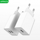 China APPACS A1/A2 wholesale custom US/EU/1 USB/2 USB port mobile phone wall charger factory