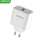 China APPACS A37 Quick Charge 3.0 EU Plug Mobile Phone Wall USB Charger Adapter factory