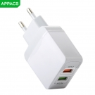 China APPACS A5 Dual USB Cell Mobile Phone Charger EU US Plug Wall Power Adapter factory