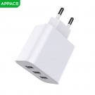 China APPACS A51 Newest 3 port charger power adapter for iPhone Samsung Smartphones factory