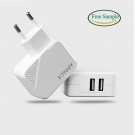China APPACS AB02035 2 Port Fireproof Pc Shell 5v 2.1a Universal Usb Travel Charger For Smartphone factory