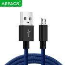 China APPACS AB03158 5V 2.4A Micro USB charging data line cable support customised design factory