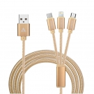 China APPACS Newest 3 In 1 Braided USB Cable factory