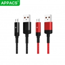 China APPACS U217 braided led micro usb cable auto disconnect when full charge-Fabrik