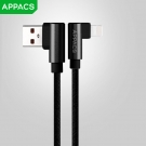 China APPACS 	AB03187-I Aluminium alloy nylon elbow data cable for iphone factory