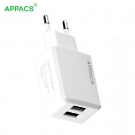 China Dual USB ports EU plug travel wall charger factory