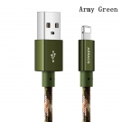 China Nylon braided USB 2.0 camouflage charging cable for iphone factory