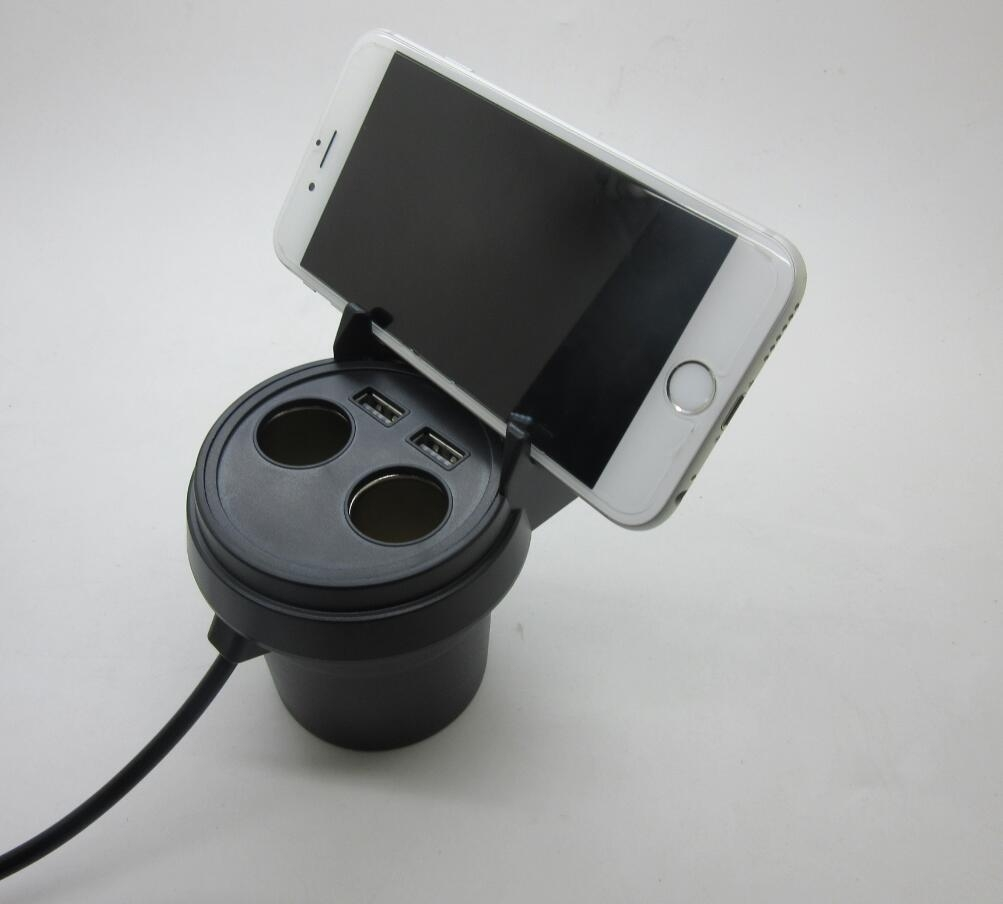 Car Holder 360 Degree Cigarette Lighter Interface Mount